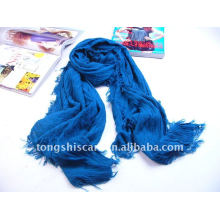 Plain solid color acrylic scarf
