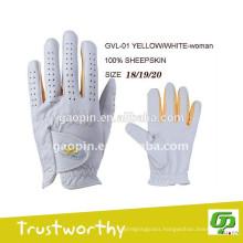 Custom colored golf glove