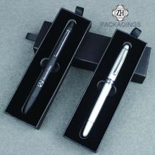 Caixa de papel de embalagem de caneta esferográfica preto personalizado