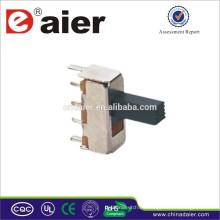 Interruptor deslizante Daier 250V SS12F44 hecho en China interruptor vertical deslizante