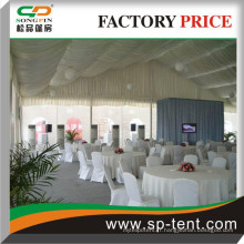 Tente de mariage de la marquise 15mx30m avec revêtements intérieurs pour les événements de mariage en plein air