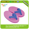 Purple Slippers Shaped Eraser, goma a medida