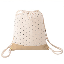 custom eco friendly recyclable canvas packaging bag reusable organic cotton drawstring bag