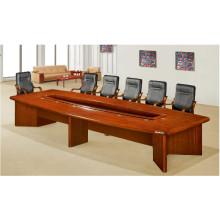 Table durable plaquée en bois solide antique de forces de défense principale pour la salle de réunion
