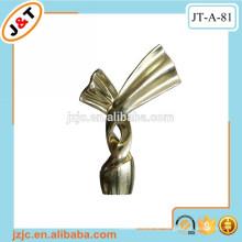 Doppelte flexible Metall-Vorhangstange mit dekorativen Vorhangstangen-Endkappen