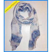 Lady print polyester paw scarf oem