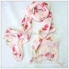 Тканые Клубника шарф (розовый)