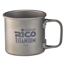Taza de pared simple de titanio 350ml