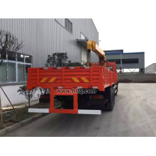 DONGFENG 6X4 12 tons straight arm crane truck with flatbed