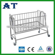 hospital or home care stainless steel infant swing bed