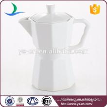 Wholesale Modern White Ceramic Tea Pot