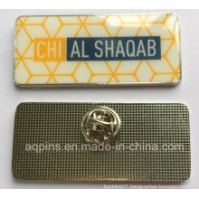 Custom Name Tag Name Badge with Print and Epoxy (badge-203)