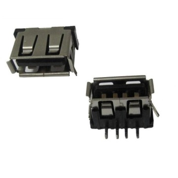 USB A Receptacle Angle DIP12.80mm Kort lichaam 10mm (2legs)
