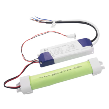 Emergency lighting with LED battery pack