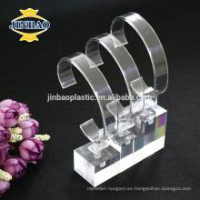 Jinbao personalizar bastidores de visualización de bolsa de gafas de reloj de material acrílico
