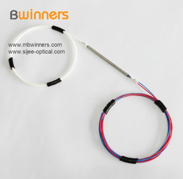1 2 Optic Fiber Splitter With Steel Tube Singlemode Dual Window