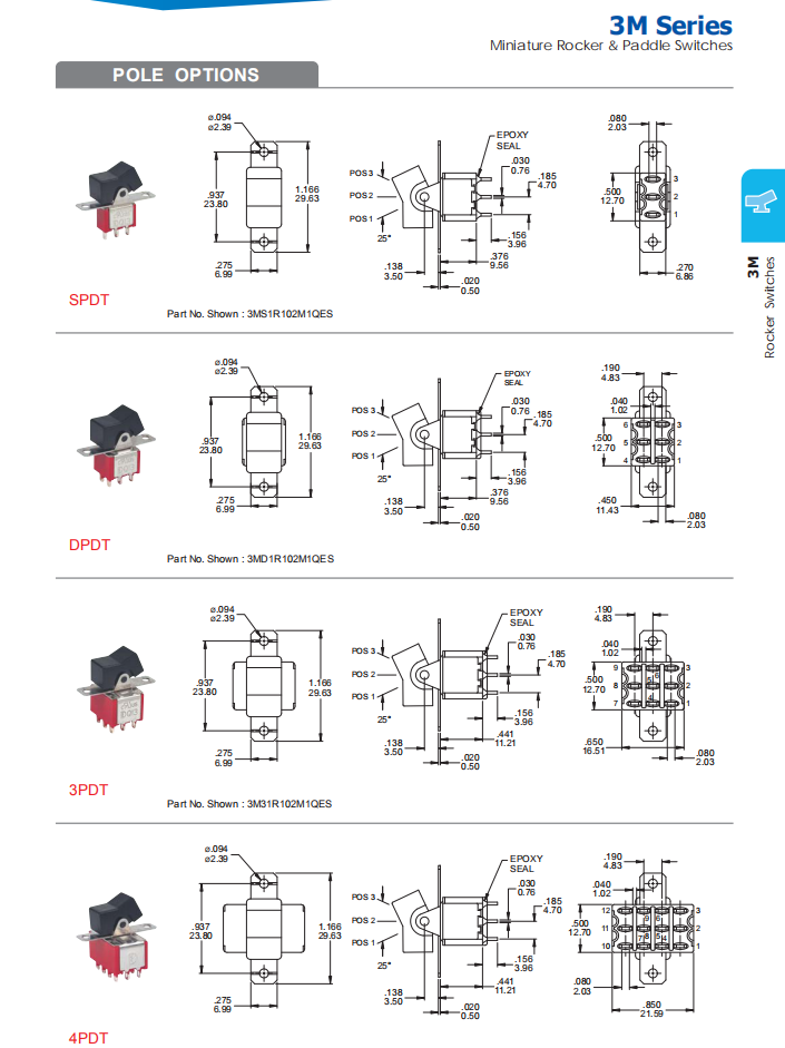 On Off On Rocker Switch 12v