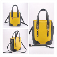 PU New Desgin Contrast Color Styles Tote Hand Bag (LY05074)