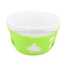weiße Keramik Salatschüsseln