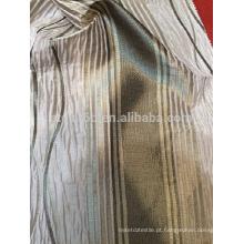 Nova chegada 100% poliéster stripe jacquard design cortina