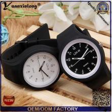 Yxl-990 alta qualidade Square Jelly Watch Silicone quartzo relógio de pulso