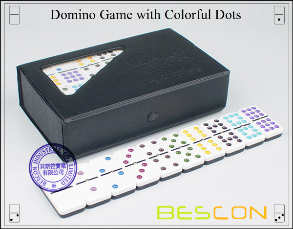 Domino Game with Colorful Dots