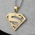 18K золото покрытием из нержавеющей стали Супермен письмо S Подвески Колье
