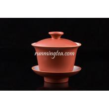 Ensemble de tasses à thé en couleur rouge en porcelaine