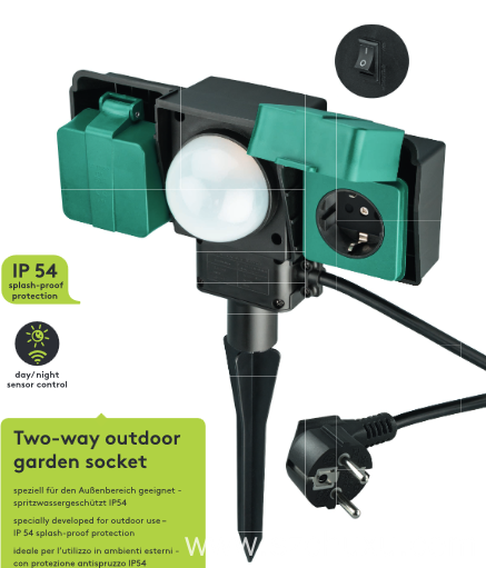 Light Sensor Outdoor Socket