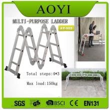 EN131 Escalera plegable de aluminio de 3 peldaños