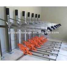 Estante de bicicleta doble flexible de las gradas