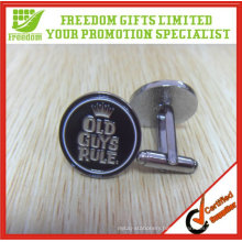 2.5cm Diameter Customized Baking Finish Metal Cufflinks