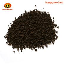 Sable de dioxyde de manganèse de 3-5mm pour la purification de qualité de l'eau