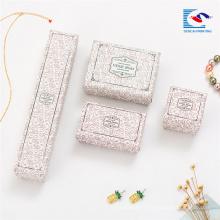 En gros en vrac imprimé collier boîte de présentation de noël bijoux boîtes-cadeaux inserts