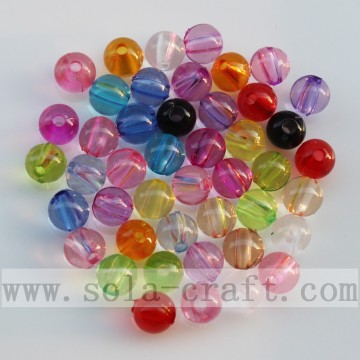 Mix Color Round Clear Acrylic Curtain Spacer Beads