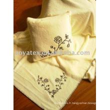 Broder la couverture en molleton de corail imprimé