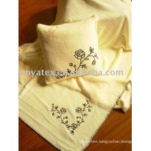 Embroider printed coral fleece blanket