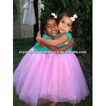 Lovely Turquoise sur mesure robes de fille fleur CWFaf4240