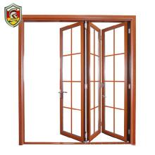 Modern garage door design folding aluminum silver frame glass panel garage door prices