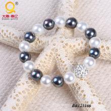 2014 na moda Shell pérola pulseira de diamantes bola (BR125166)