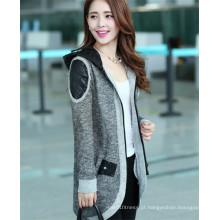 Mulheres Autumn Zipper casaco Blazer Casual