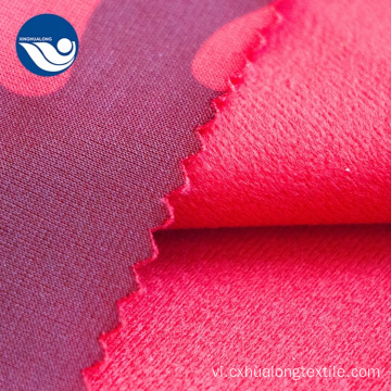 Coral Coral Brush Velvet Fabric For Upholstery