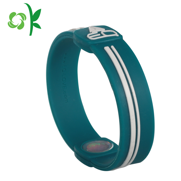 Embossed Silicone Wrist Bands