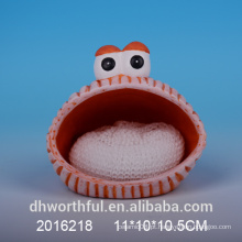 Suporte de esponja cerâmica promocional com design animal