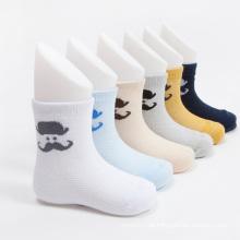 Heißer Verkauf jungen Crew Cotton Socken mit Schnurrbart Designs
