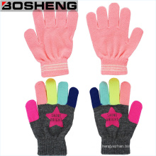 95%Acrylic Children Stretch Winter Knitted Magic Gloves
