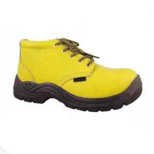 Alta calidad profesional profesional PU / cuero de seguridad de trabajo de los zapatos industriales