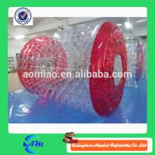 Precio inflable de la bola del rodillo del agua del color rojo para la venta