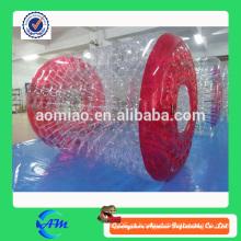 Preço inflável inflável da esfera do rolo da água da cor vermelha venda