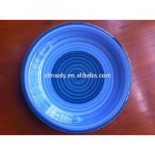 hand printed porcelain omega soup plate